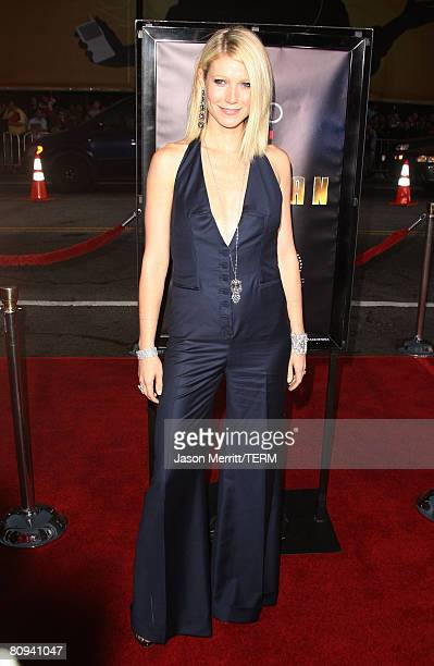 Actress Gwyneth Paltrow arrives at the premiere of Paramount's 'Iron Man' held at Grauman's Chinese Theatre on May 30 2008 in Hollywood California
