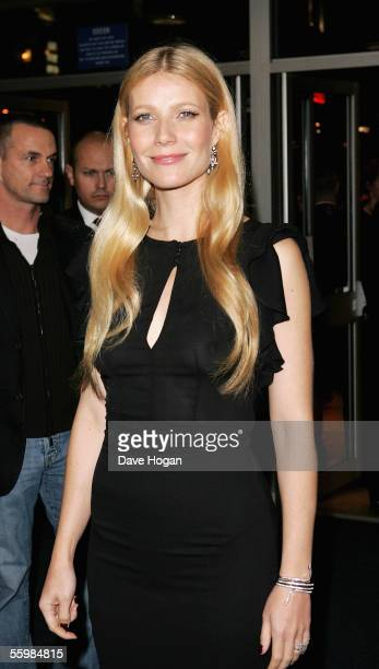 Actress Gwyneth Paltrow arrives at the screening of Proof showing as part of The Times BFI London Film Festival at the Odeon West End on October 22...