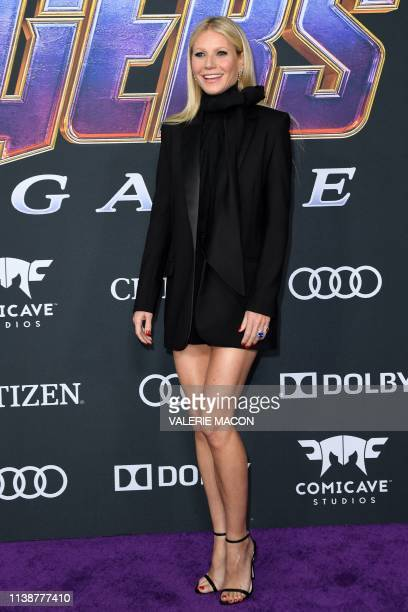 US actress Gwyneth Paltrow arrives for the World premiere of Marvel Studios' Avengers Endgame at the Los Angeles Convention Center on April 22 2019...