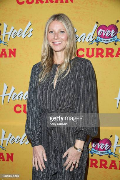Actress Gwyneth Paltrow arrives on the red carpet for the PreBroadway Opening Engagement Of 'Head Over Heels' at the Curran Theatre on April 18 2018...