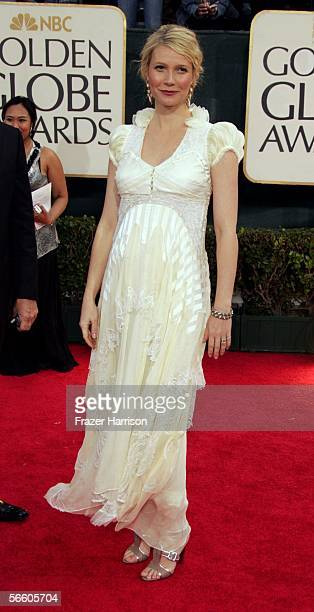 Actress Gwyneth Paltrow arrives to the 63rd Annual Golden Globe Awards at the Beverly Hilton on January 16 2006 in Beverly Hills California