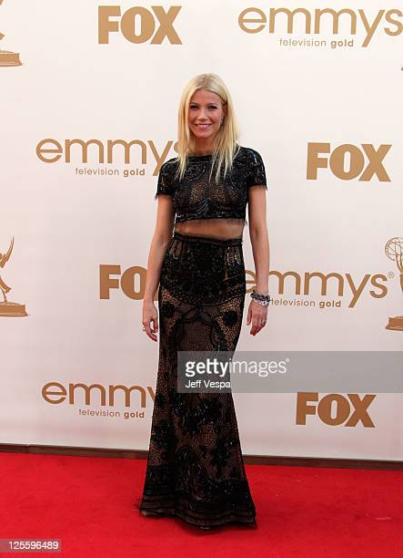 Actress Gwyneth Paltrow arrives to the 63rd Primetime Emmy Awards at the Nokia Theatre LA Live on September 18 2011 in Los Angeles United States