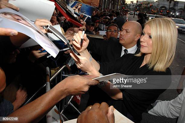 Actress Gwyneth Paltrow arrives to the 'Iron Man' premiere at Grauman's Chinese Theatre on April 30 2008 in Hollywood California