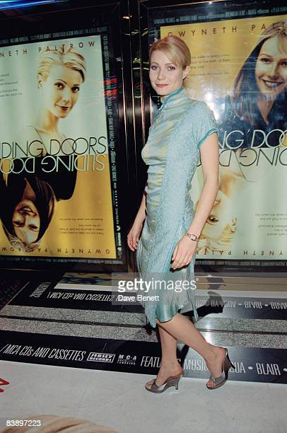 Actress Gwyneth Paltrow at the premiere of her film 'Sliding Doors' at the Empire Leicester Square 27th April 1998