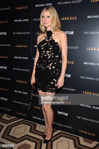 Actress Gwyneth Paltrow attends a screening of 'Iron Man' hosted by the Cinema Society and Michael Kors at the Tribeca Grand Screening Room on April...