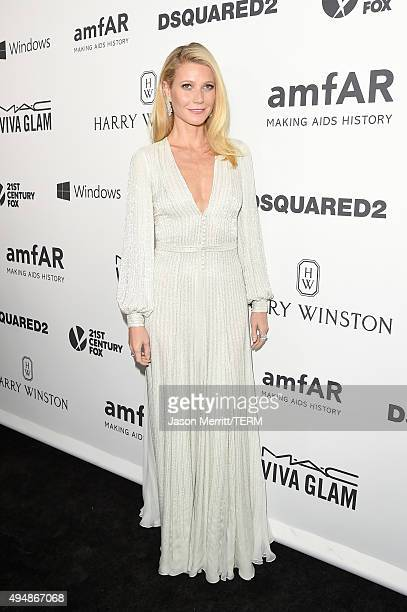 Actress Gwyneth Paltrow attends amfAR's Inspiration Gala Los Angeles at Milk Studios on October 29 2015 in Hollywood California