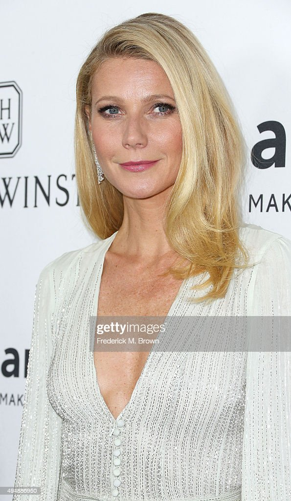 Actress Gwyneth Paltrow attends amfAR's Inspiration Gala Los Angeles at Milk Studios on October 29, 2015 in Hollywood, California.