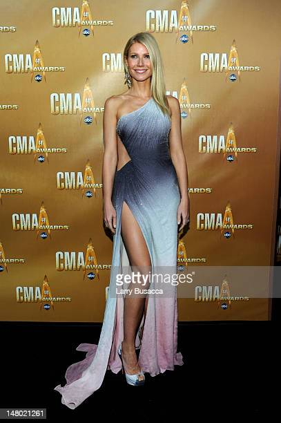 Actress Gwyneth Paltrow attends the 44th Annual CMA Awards at the Bridgestone Arena on November 10 2010 in Nashville Tennessee