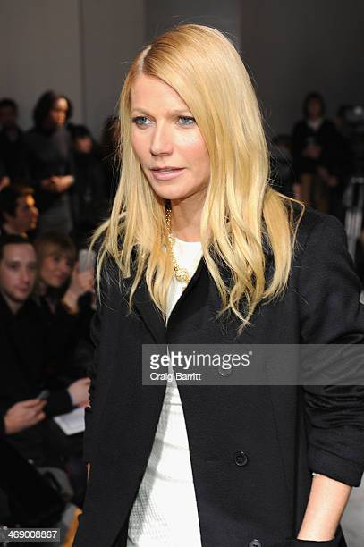 Actress Gwyneth Paltrow attends the Boss Women fashion show during MercedesBenz Fashion Week Fall 2014 at Skylight Limited on February 12 2014 in New...
