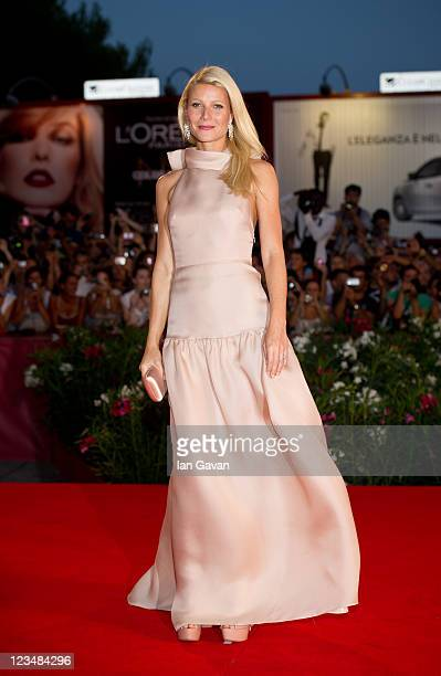 Actress Gwyneth Paltrow attends the Contagion premiere during the 68th Venice Film Festival at Palazzo del Cinema on September 3 2011 in Venice Italy