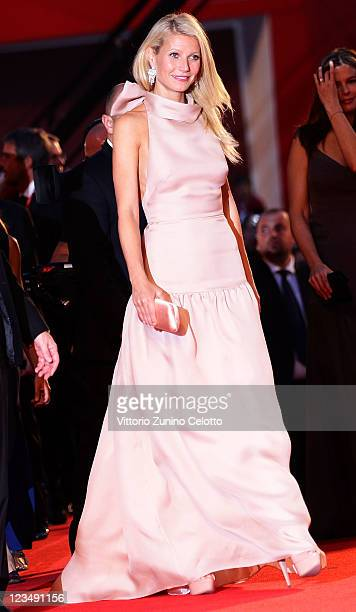 Actress Gwyneth Paltrow attends the 'Contagion' premiere during the 68th Venice Film Festival at Palazzo del Cinema on September 3, 2011 in Venice,...