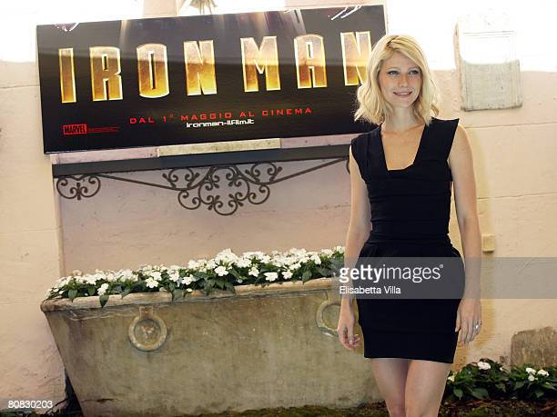 Actress Gwyneth Paltrow attends the 'Iron Man' photocall at Hassler Hotel on April 23, 2008 in Rome, Italy.