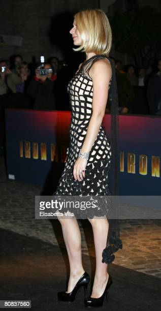 Actress Gwyneth Paltrow attends the 'Iron Man' premiere at Warner Moderno Cinema on April 23, 2008 in Rome, Italy.
