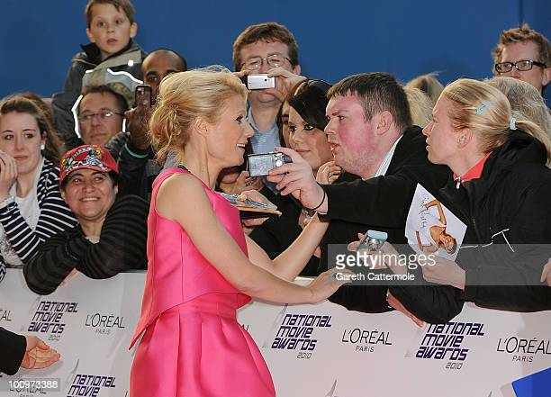Actress Gwyneth Paltrow attends the National Movie Awards 2010 at the Royal Festival Hall on May 26 2010 in London England