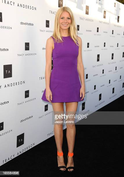 Actress Gwyneth Paltrow attends the opening of Tracy Anderson Flagship Studio on April 4 2013 in Brentwood California