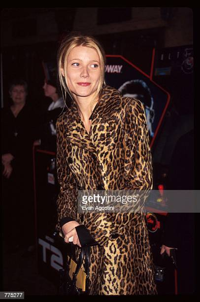 Actress Gwyneth Paltrow attends the premiere of 'Catwalk' February 11 1996 in New York City The film documents Christy Turlington's exploits on and...