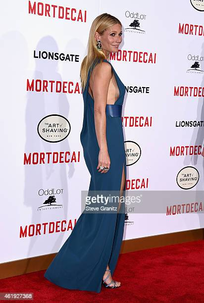 "Actress Gwyneth Paltrow attends the premiere of Lionsgate's ""Mortdecai"" at TCL Chinese Theatre on January 21, 2015 in Hollywood, California."