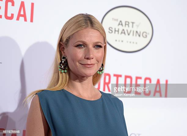 Actress Gwyneth Paltrow attends the premiere of Lionsgate's 'Mortdecai' at TCL Chinese Theatre on January 21 2015 in Hollywood California