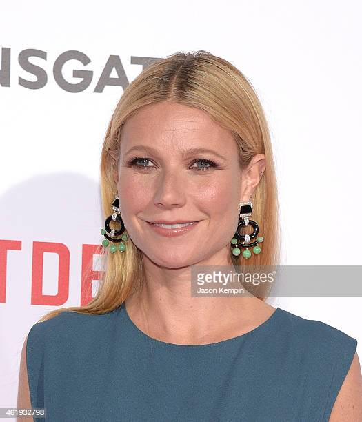 Actress Gwyneth Paltrow attends the premiere of Lionsgates's 'Mortdecai' at TCL Chinese Theatre on January 21 2015 in Hollywood California