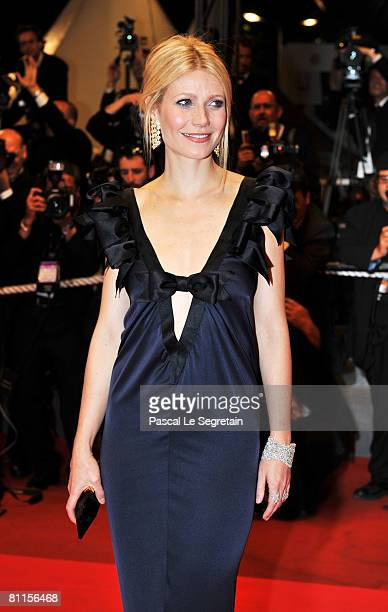 Actress Gwyneth Paltrow attends the 'Two Lovers' Premiere at the Palais des Festivals during the 61st International Cannes Film Festival on May 19...