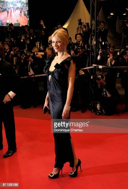 Actress Gwyneth Paltrow attends the Two Lovers premiere at the Palais des Festivals during the 61st Cannes International Film Festival on May 19 2008...