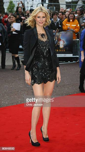 Actress Gwyneth Paltrow attends the UK Charity Premiere of 'Iron Man' held at the Odeon Leicester Square on April 24 2008 in London England