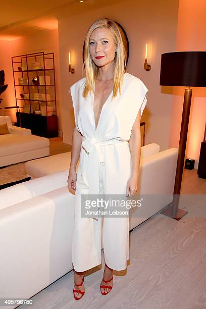 Actress Gwyneth Paltrow attends the unveiling of the RH Modern Gallery in Los Angeles on November 4 2015