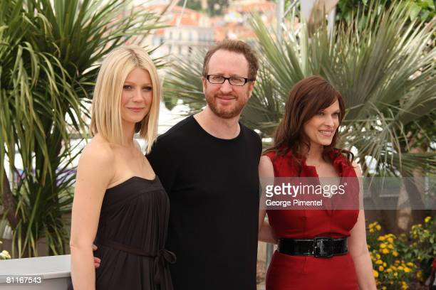 Actress Gwyneth Paltrow director James Gray and actress Vinessa Shaw attend the Two Lovers photocall at the Palais des Festivals during the 61st...