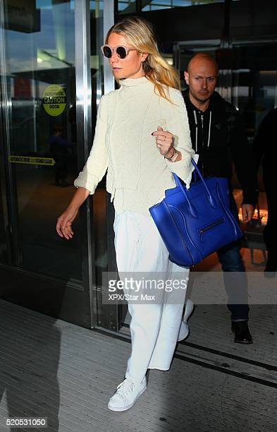 Actress Gwyneth Paltrow is seen on April 11 2016 in New York City