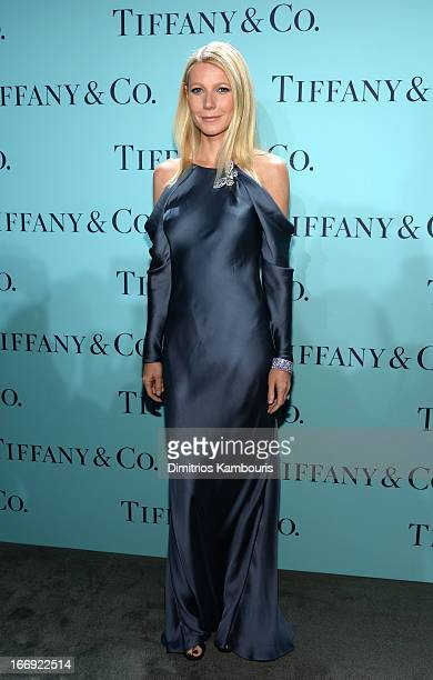 Actress Gwyneth Paltrow is wearing Diamonds from the Tiffany Co 2013 Blue Book Collection as she attends the Tiffany Co Blue Book Ball at Rockefeller...
