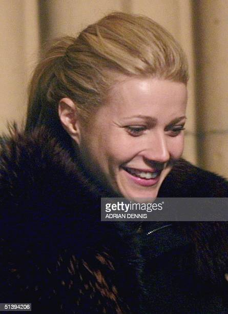 Actress Gwyneth Paltrow leaves Dornoch Cathedral after popstar Madonna and British film director Guy Ritchie christened their son Rocco 21 December...