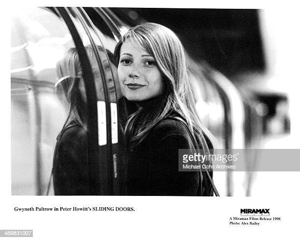 "Actress Gwyneth Paltrow on set of the movie ""Sliding Doors"" , circa 1998."