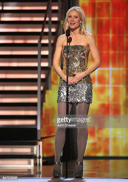 Actress Gwyneth Paltrow onstage at the 51st Annual GRAMMY Awards held at the Staples Center on February 8 2009 in Los Angeles California