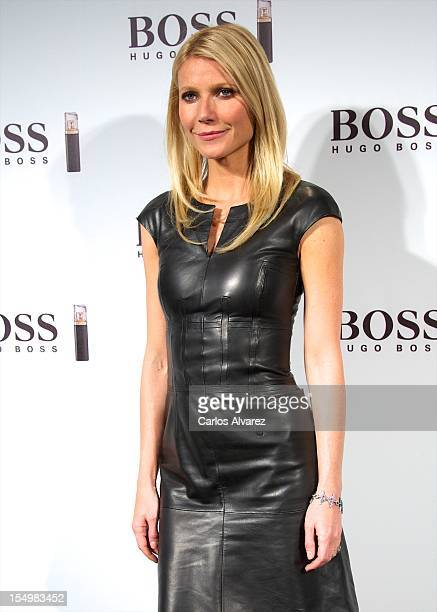 Actress Gwyneth Paltrow presents the new Boss Nuit Pour Femme Hugo Boss parfum at the Neptuno Palace on October 29 2012 in Madrid Spain