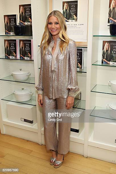 Actress Gwyneth Paltrow signs copies of her book 'It's All Easy' at WilliamsSonoma on April 13 2016 in New York City