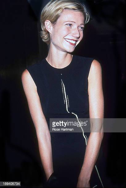 Actress Gwyneth Paltrow smiles while attending a dinner at the Four Seasons Restaurant New York New York 1995