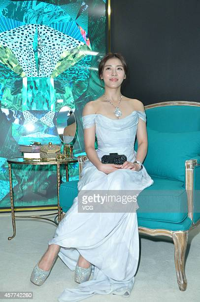 Actress Ha Jiwon attends commercial activity on October 23 2014 in Taipei Taiwan of China