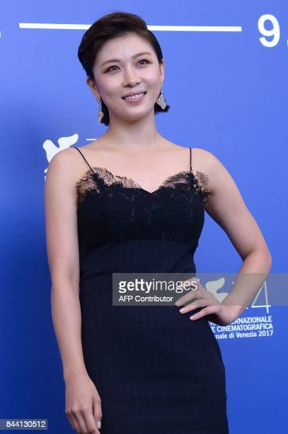 Actress Ha JiWon attends the photocall of the movie Zhuibu presented out of competition at the 74th Venice Film Festival on September 8 2017 at...