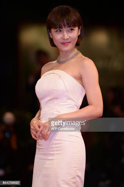Actress Ha JiWon attends the premiere of the movie Zhuibu presented out of competition at the 74th Venice Film Festival on September 8 2017 at Venice...