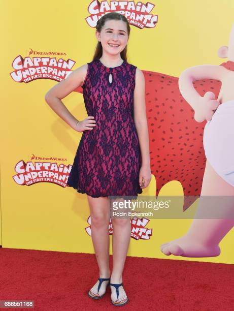 Actress Hadley Belle Miller attends the premiere of 20th Century Fox's 'Captain Underpants The First Epic Movie' at Regency Village Theatre on May 21...