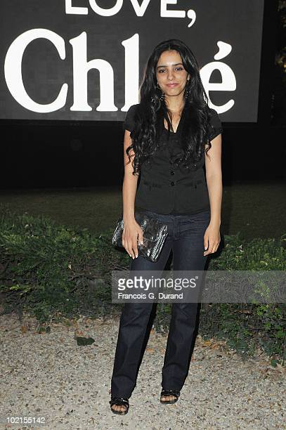 Actress Hafsia Herzi arrives at the Chloe new Fragance Launch at the Apicius restaurant in Paris on June 16 2010 in Paris France