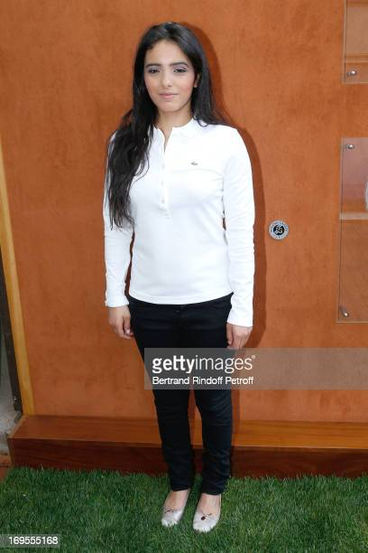 Actress Hafsia Herzi attends Roland Garros Tennis French Open 2013 Day 2 on May 27 2013 in Paris France