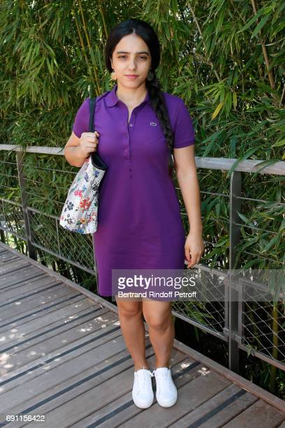 Actress Hafsia Herzi attends the 2017 French Tennis Open Day Five at Roland Garros on June 1 2017 in Paris France