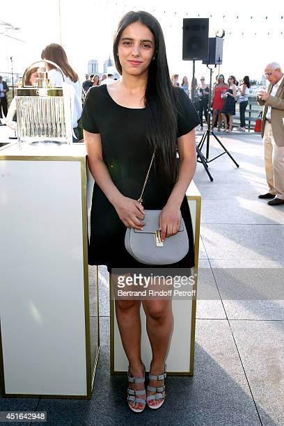 Actress Hafsia Herzi attends the launching of Chloe new Perfume 'Love Story' Held at Institut du Monde Arabe on July 2 2014 in Paris France