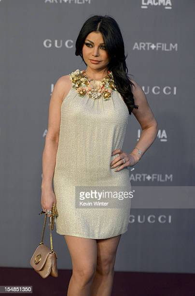 Actress Haifa Wehbe arrives at LACMA 2012 Art Film Gala at LACMA on October 27 2012 in Los Angeles California