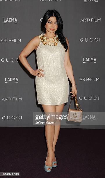 Actress Haifa Wehbe arrives at LACMA Art Film Gala at LACMA on October 27 2012 in Los Angeles California