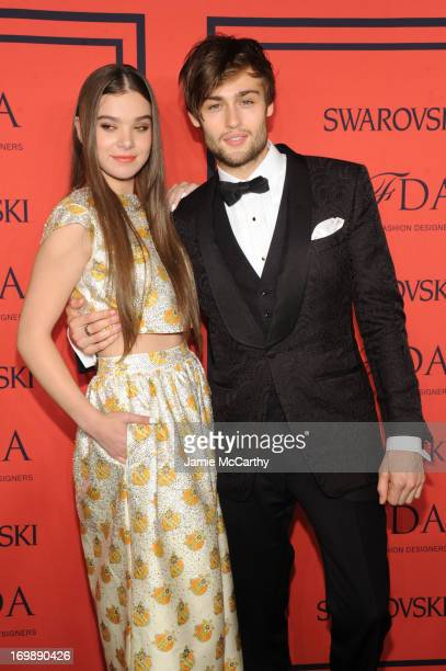 Actress Hailee Steinfeld and actor Douglas Booth attend 2013 CFDA Fashion Awards at Alice Tully Hall on June 3 2013 in New York City