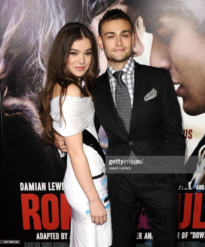 Actress Hailee Steinfeld and actor Douglas Booth attend the premiere of 'Romeo And Juliet' at ArcLight Hollywood on September 24, 2013 in Hollywood, California.