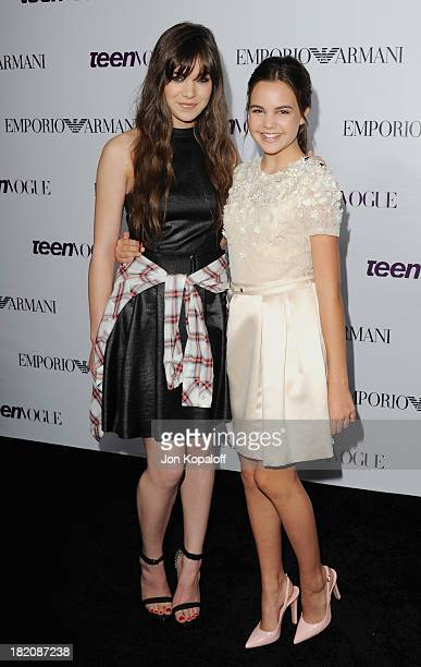 Actress Hailee Steinfeld and actress Bailee Madison arrive at the 2013 Teen Vogue Young Hollywood Awards on September 27 2013 in Los Angeles...