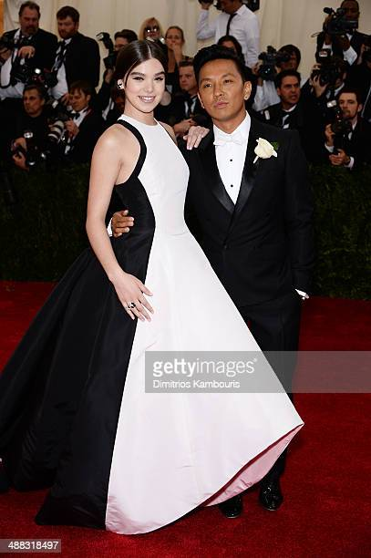 Actress Hailee Steinfeld and designer Prabal Gurung attend the 'Charles James Beyond Fashion' Costume Institute Gala at the Metropolitan Museum of...